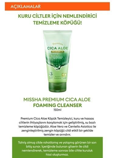 Missha Hassasiyet Karşıtı Aloe Vera Içeren Köpük Temizleyici 150Ml Premium Cica Aloe Foamıng Cleanser Renksiz